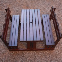 Classic Bench With Backrest