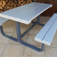 Steel Framed Bench
