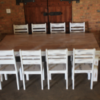 Farm Style Table with Chairs