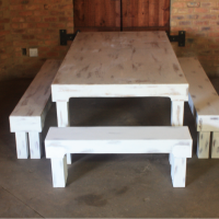 Farm Style Table with Benches